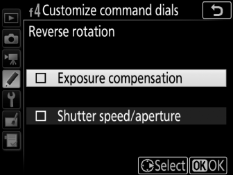 f4: Customize Command Dials